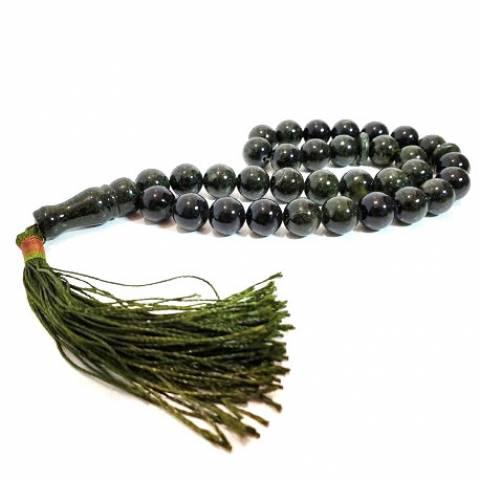 Купить четки из натурального камня змеевик, цена Киев Украина. Четки из натуральных камней змеевик в интернет магазине украшений Darsana