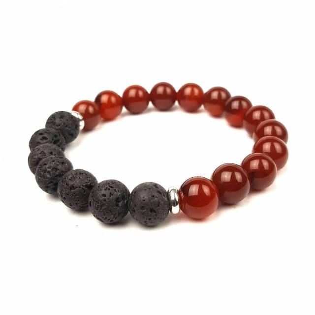 Купить Браслет из натурального камня сердолик, шунгит, лава, цена Киев Украина. Бра