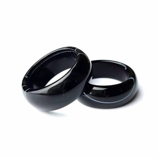 Купить кольцо из натурального камня черный агат, цена Киев Украина. Кольцо из натуральных камней агата в интернет магазине украшений Darsana
